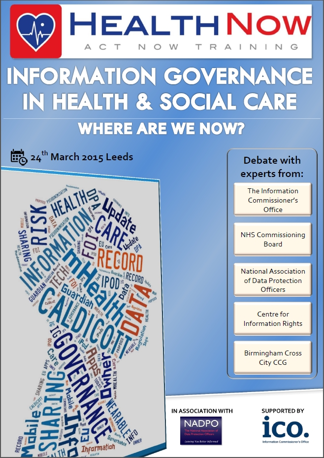 Information Governance in Health & Social Care Conference ...