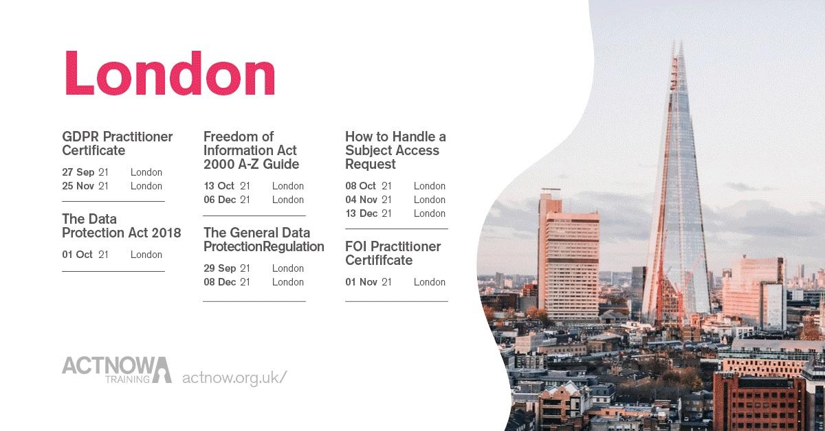 London Classroom Dates