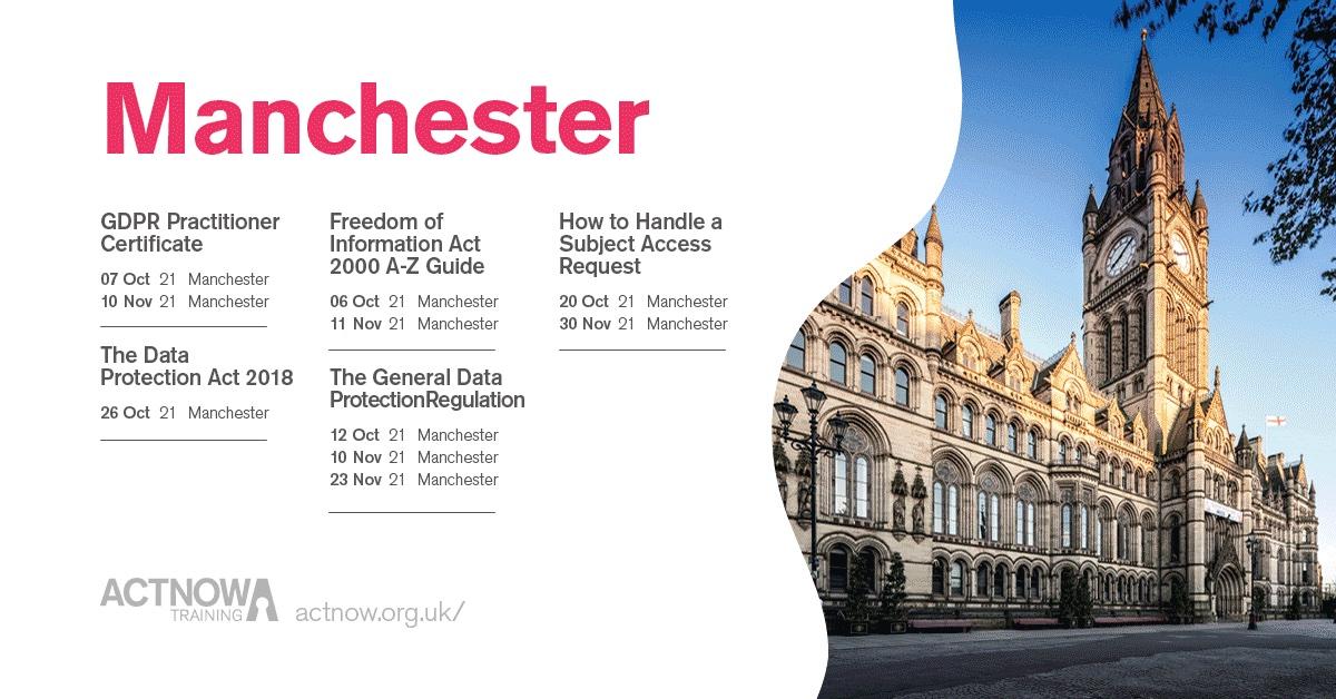 Manchester Classroom Dates